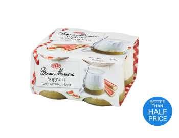 Bonne Maman yogurt with rhubarb layer 4x125g