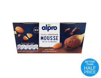 Alpro Double Chocolate Almond Mousse 2x70g