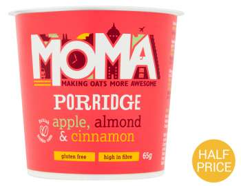 MOMA apple, almond & cinnamon porridge 65g