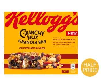 Kelloggs Crunchy Nut Bar Choc & Nuts 4x32g
