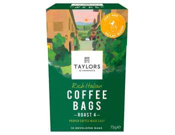 Taylors of Harrogate rich Italian coffee bags 10 pk