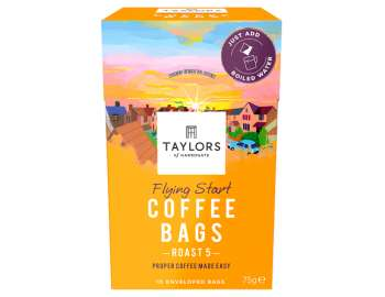 Taylors of Harrogate flying start coffee bags 10 enveloped bags