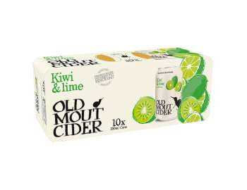 Old Mout Cider Kiwi & Lime Cans 10x330ml