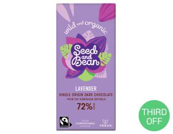Seed & Bean lavender dark chocolate 85g