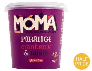 MOMA cranberry & raisin porridge 70g
