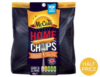 McCain home chips straight 400g