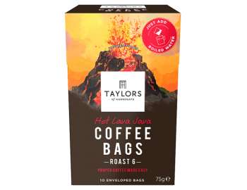 Taylors of Harrogate hot lava Java coffee bags 10 pk