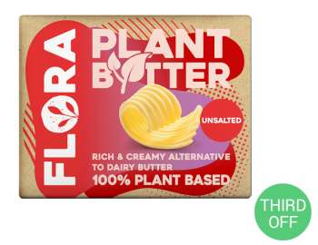 Flora plant butter unsalted 250g