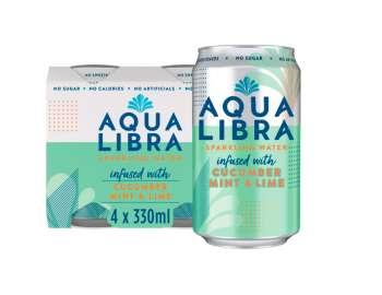 Aqua Libra cucumber, mint & lime 4x330ml