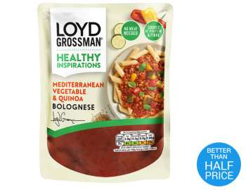 Loyd Grossman vegetable & quinoa bolognese