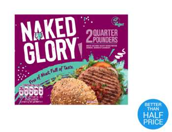 Naked Glory chilled quarter pounders x2 227g