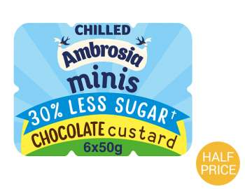 Ambrosia minis 30% less sugar - chocolate