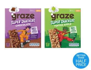 Graze super snackers cereal bars 4x23g