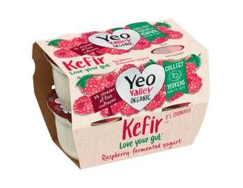 Yeo Valley organic kefir raspberry 4x100g