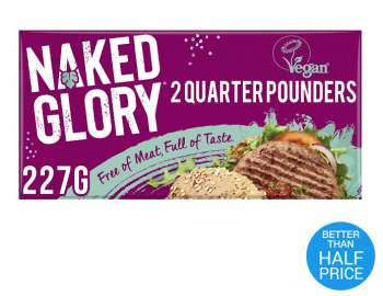 Naked Glory frozen quarter pounders x2 227g