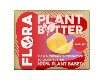 Flora plant butter unsalted 250g