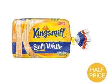 Kingsmill soft medium sliced white bread 800g