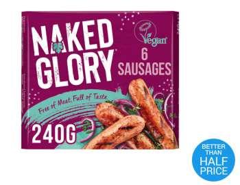 Naked Glory fresh sausages x6 240g