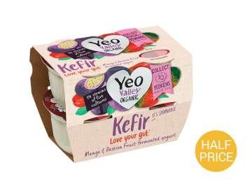 Yeo Valley organic kefir mango & passionfruit 4x100g