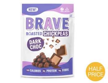 Brave Roasted Chickpeas Dark Choc 30g
