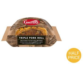 Ginsters triple pork roll 120g