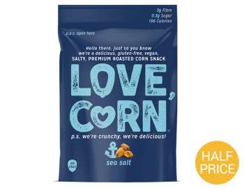 Love Corn sea salt crunchy corn 45g