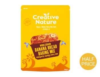 Creative Nature w.grain banana bread mix 250g