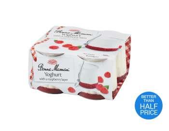Bonne Maman yogurt with raspberry layer 4x125g