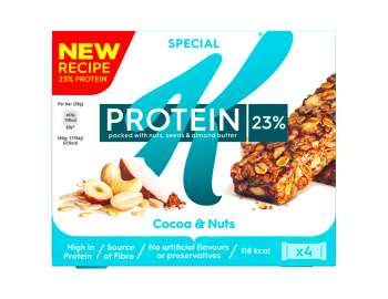 Special K protein cocoa & nuts bars 4x28g