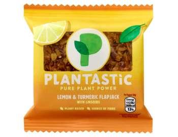Plantastic lemon & turmeric flapjack