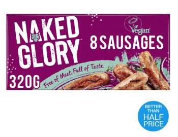 Naked Glory frozen 8 sausages 320g