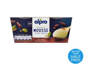 Alpro Pistachio Chocolate Mousse 2x70g