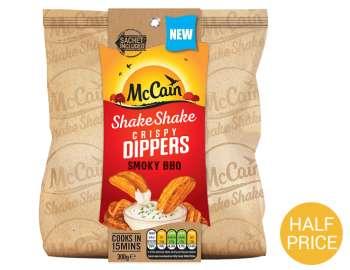 McCain shake shake BBQ crispy dippers 300g