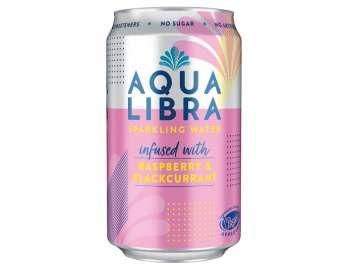 Aqua Libra Raspberry & Blackcurrant Infused Fruit Flavoured Sparkling Water 330ml