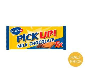 Bahlsen PiCKUP! milk chocolate bars 5x28g