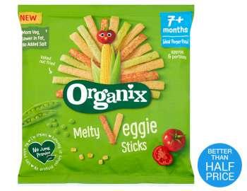 Organix Melty Veggie Sticks single pk 15g